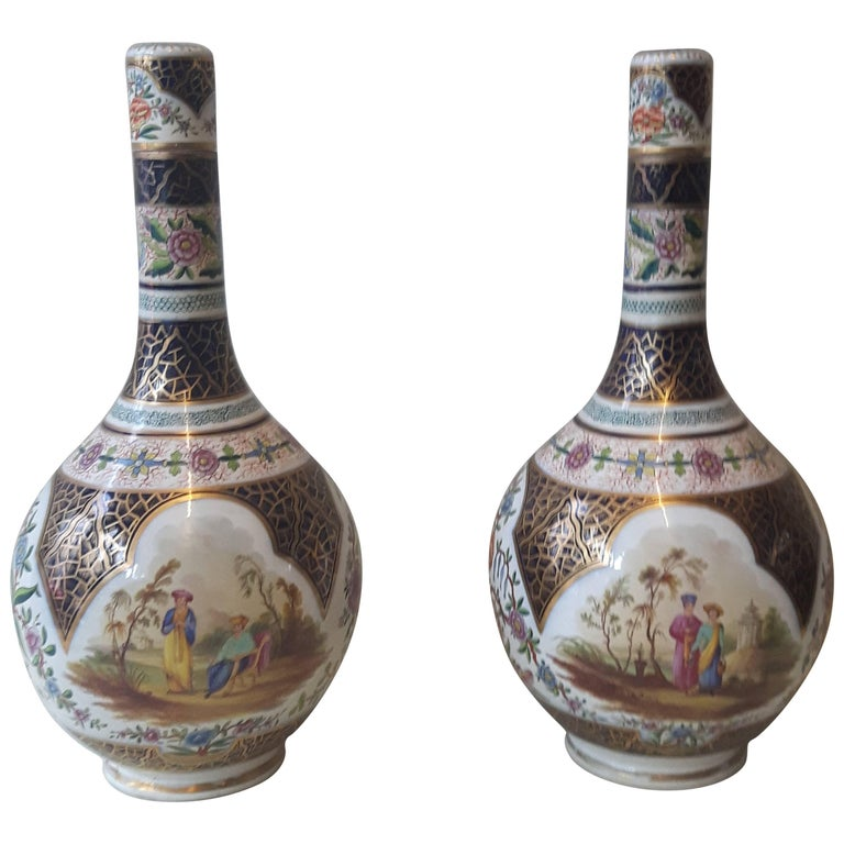Pair of 19th Century Paris Vase For Sale