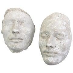 Pair of 19th Century Plaster Death Masks