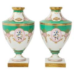 Pair of 19th Century Porcelain Urn Vases