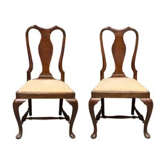 Pair of 19th Century Queen Anne Style Side Chairs