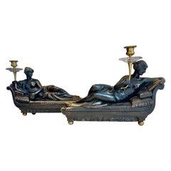 Pair of 19th Century Regency Candelabra of Venus Victrix