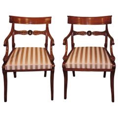 Pair of 19th Century Regency Mahogany Armchairs