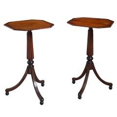 Pair of 19th Century Regency Mahogany End Tables