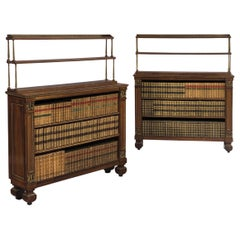 Pair of 19th Century Regency Rosewood Open Bookshelves