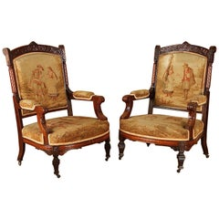 Pair of 19th Century Rosewood Chairs Attributed to Herter Bros