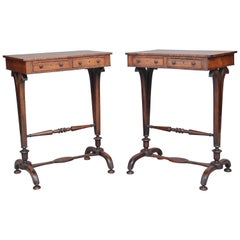 Pair of 19th Century Rosewood Side Tables