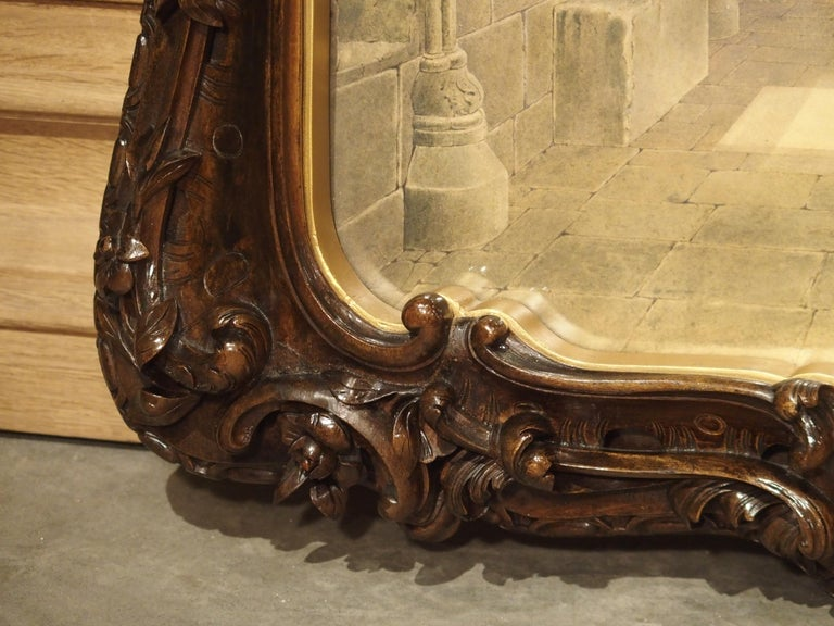 Pair of 19th Century Rosslyn Chapel Watercolors in Carved Fruitwood Frames For Sale 7