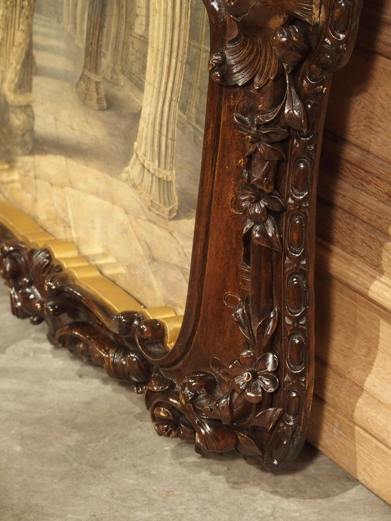 Pair of 19th Century Rosslyn Chapel Watercolors in Carved Fruitwood Frames For Sale 16