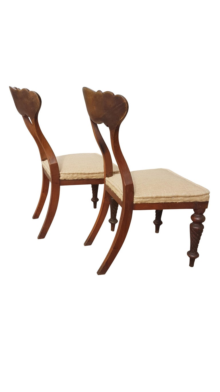 Pair of 19th Century Scottish Walnut Chairs For Sale 4