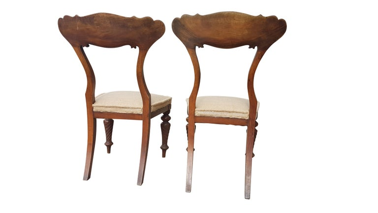 Pair of 19th Century Scottish Walnut Chairs For Sale 2
