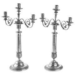 Pair of 19th Century Silver Candelabra