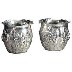 Pair of 19th Century Silver Planters or Coolers by Hukin & Heath