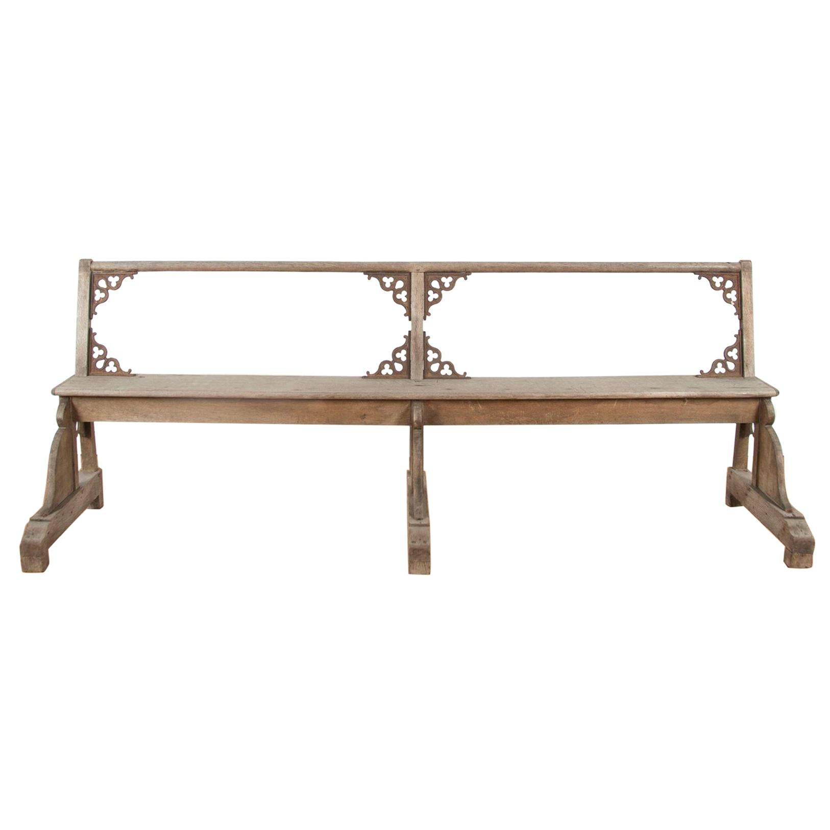 Pair of 19th Century Silvered Oak Benches