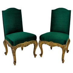 Pair of 19th Century Spanish Giltwood Chairs
