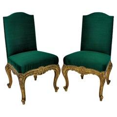 Pair of 19th Century Spanish Giltwood Chairs