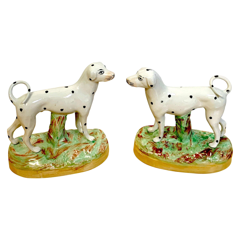 Pair of 19th Century Staffordshire Figures of Dalmatians