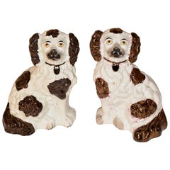 Pair of 19th Century Staffordshire Spaniels