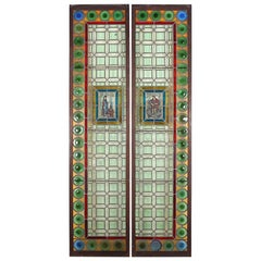 Pair of 19th Century Stained Glass Panels from Paris