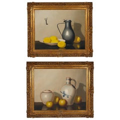 Pair of 19th Century Still Life Oil Paintings by A. Veerkamp