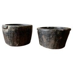 Pair of 19th Century Stone Mortars