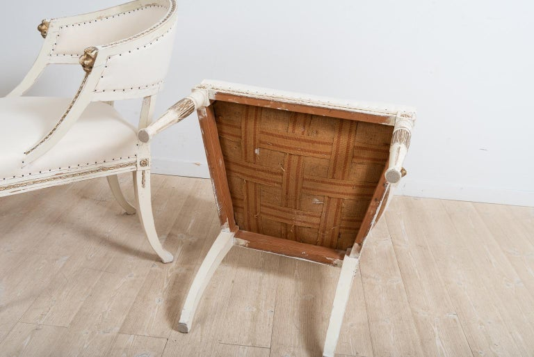 Pair of 19th Century Swedish Barrel Back Armchairs For Sale 6