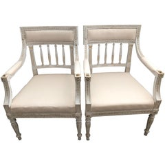 Pair of 19th Century Swedish Gustavian Chairs