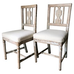 Pair of 19th Century Swedish Gustavian Period Side Chairs