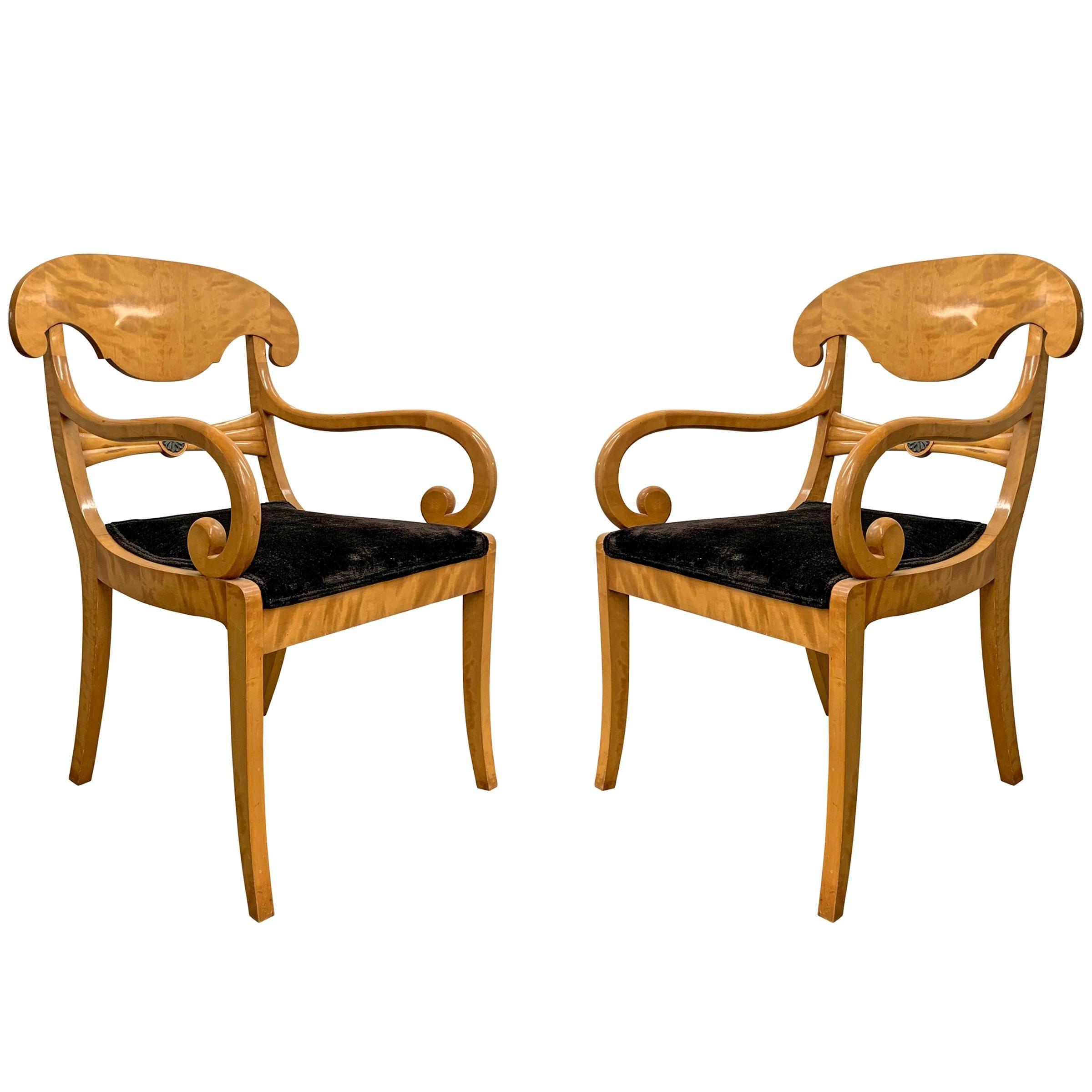 Pair of 19th Century Swedish Karl Johan Chairs