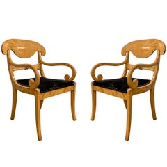 Pair of 19th Century Swedish Karl Johan Chairs