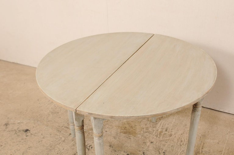 Pair of 19th Century Swedish Painted Demi-Lune Console Tables 3