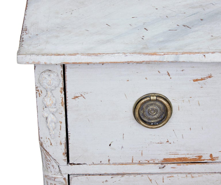 Pair of 19th Century Swedish Pine Painted Commodes For Sale 3