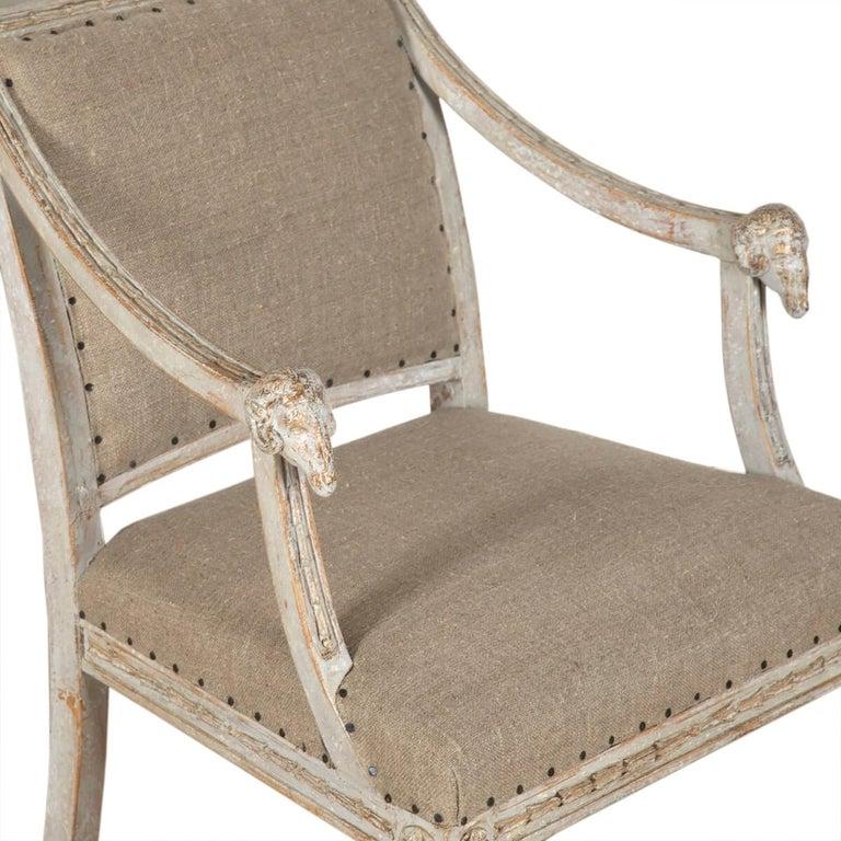 Wood Pair of 19th Century Swedish Ram Head Chairs For Sale