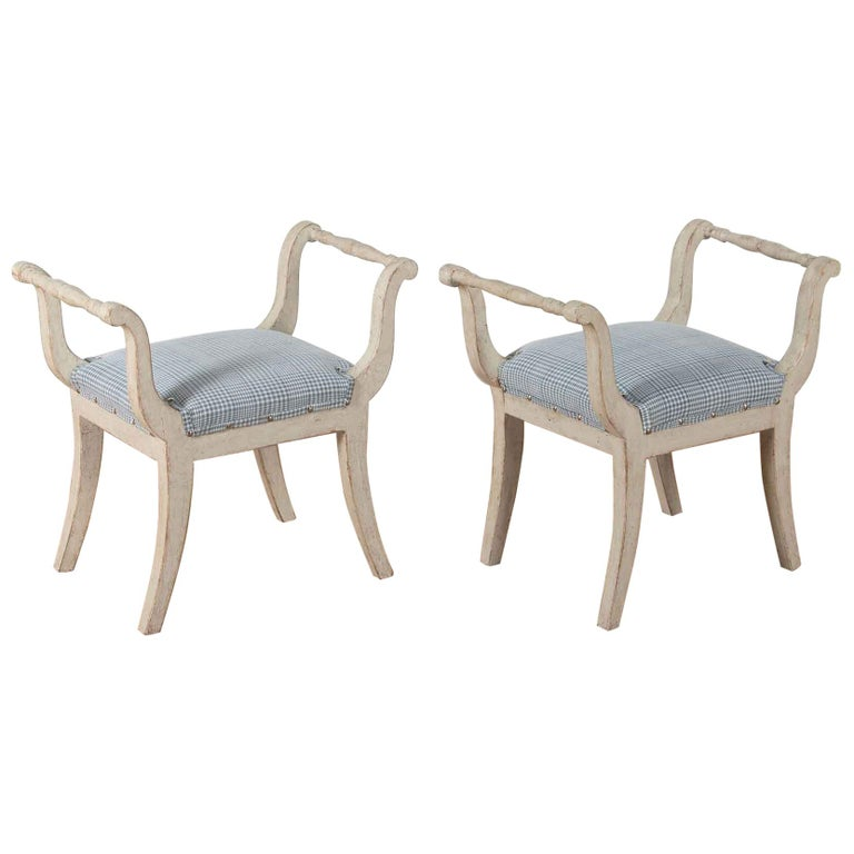 Pair of 19th Century Swedish Stools For Sale