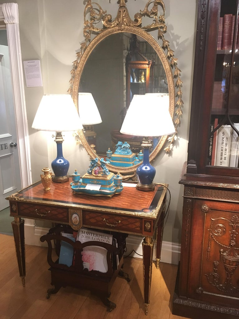 Pair of 19th Century Trellis and Dot Tables Attributed to Donald Ross For Sale 1