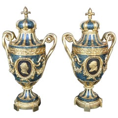 Pair of 19th Century Urns