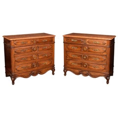 Pair of 19th Century Walnut Chest of Draws