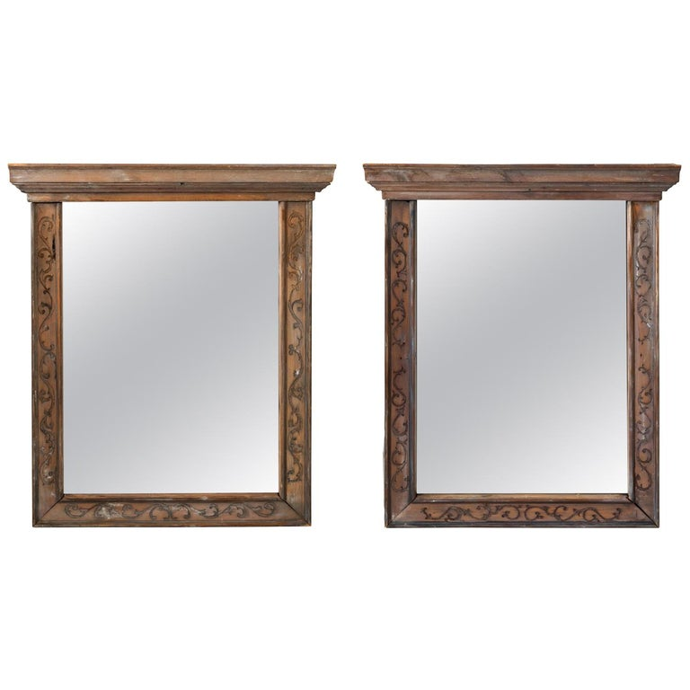 Pair of 19th Century Window Frame Mirrors For Sale