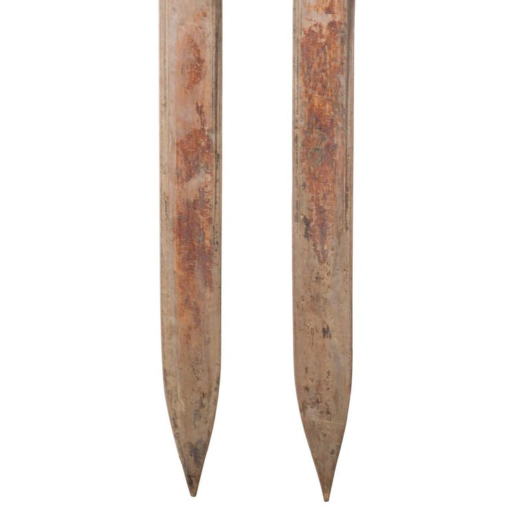 Pair Of 19th Century Wooden Skis For Sale At 1stdibs