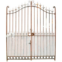 Pair of 19th Century Wrought Iron Driveway Gates