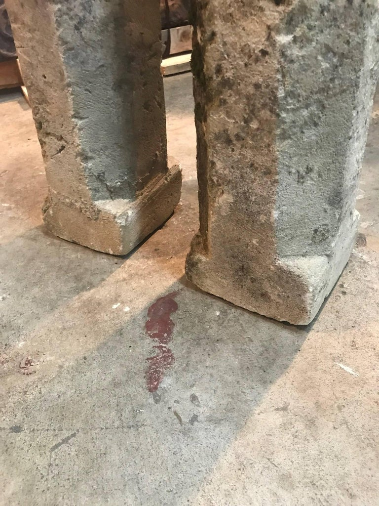 Pair of 19th French Stone Markers, Obelisks For Sale 4