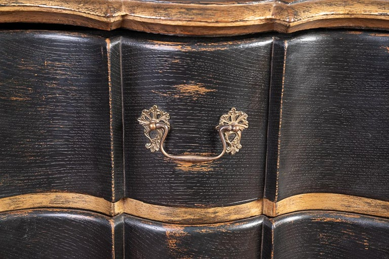 18th Century Pair of 19thc Painted and Gilded Commodes For Sale