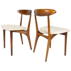 Pair of 2 Kurt Ostervig Dining Chairs for Brande Mobelfabrik, Denmark, 1960s