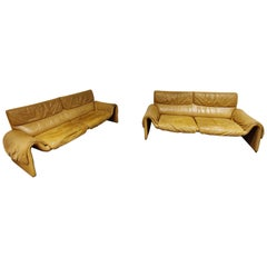 Pair of 2 seater sofa's model DS 2011 by De Sede, 1980s