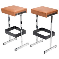 Pair of 2 Vintage Modern Bar Stools