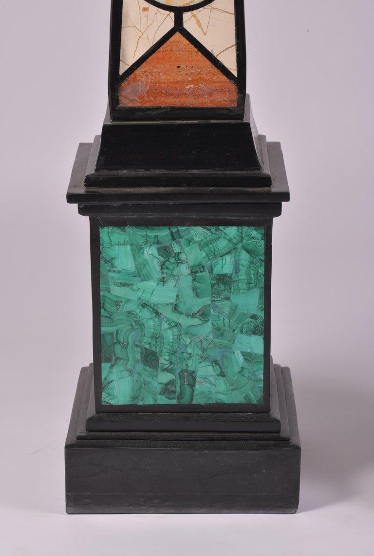 Pair of 20th Century Marble Specimen Obelisks For Sale 1
