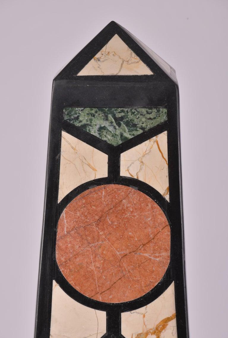 Pair of 20th Century Marble Specimen Obelisks For Sale 2