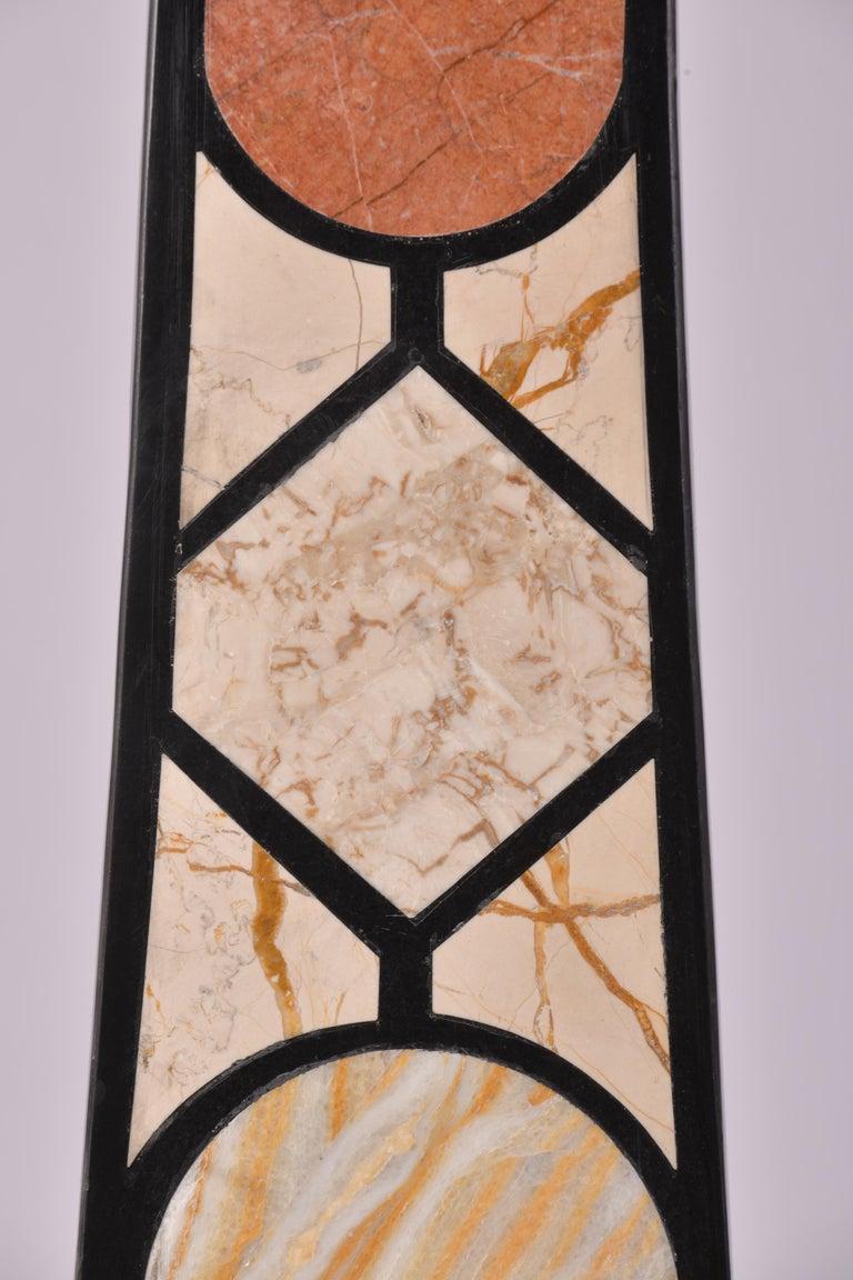 Pair of 20th Century Marble Specimen Obelisks For Sale 3