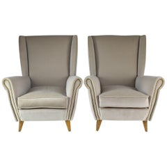 Pair of 20th Century Armchairs by Gio Ponti, 1940s