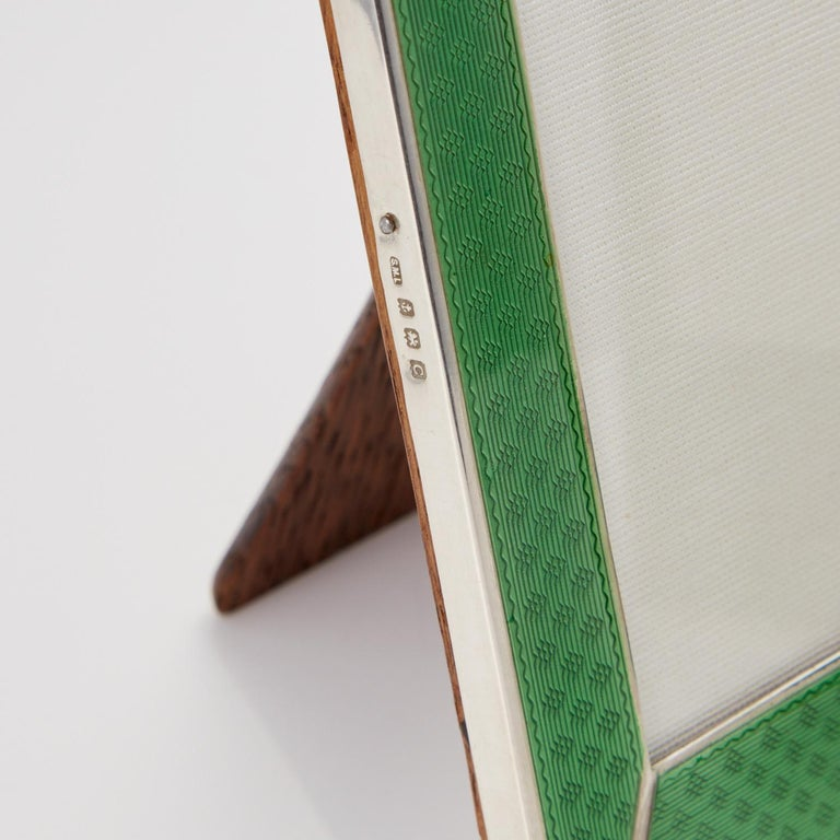 Pair of 20th Century Art Deco Sterling Silver and Enamel Photograph Frames, 1927 1