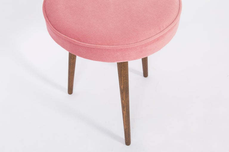 Mid-Century Modern Pair of 20th Century Baby Pink Stools, 1960s For Sale